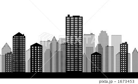 オフィスビル ビル街 ビル群 高層ビルのイラスト素材 Pixta