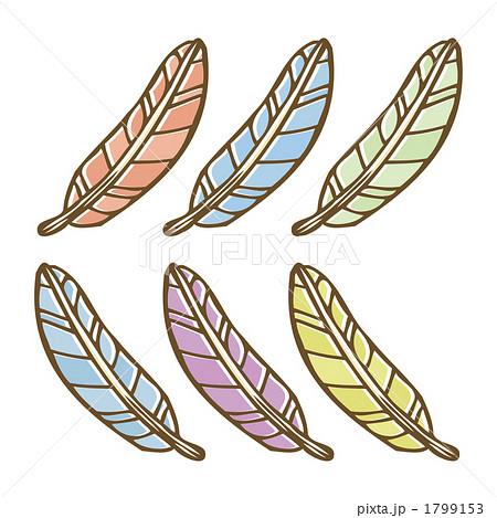 フェザー 鳥の羽 羽毛のイラスト素材 1799153 Pixta