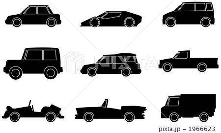 自動車 影 乗り物 乗用車のイラスト素材 Pixta