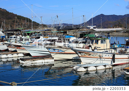 宮窪漁港の写真素材 - PIXTA