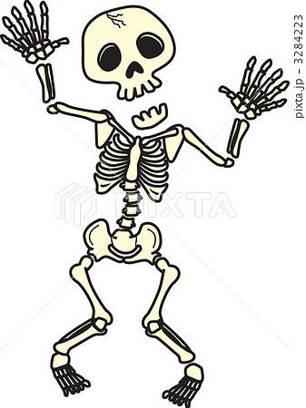 死人 骨 骸骨のイラスト素材 Pixta