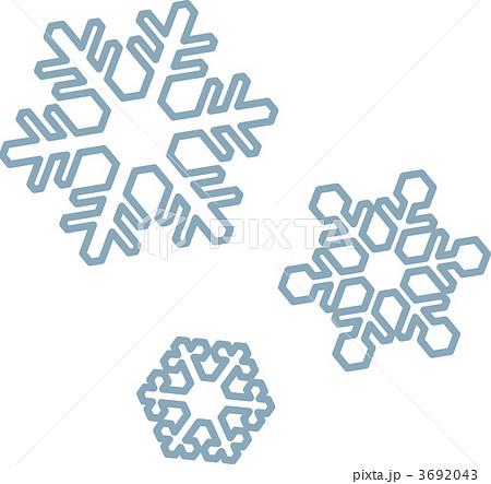 ベクター スノーフレーク 雪の結晶 結晶のイラスト素材 Pixta