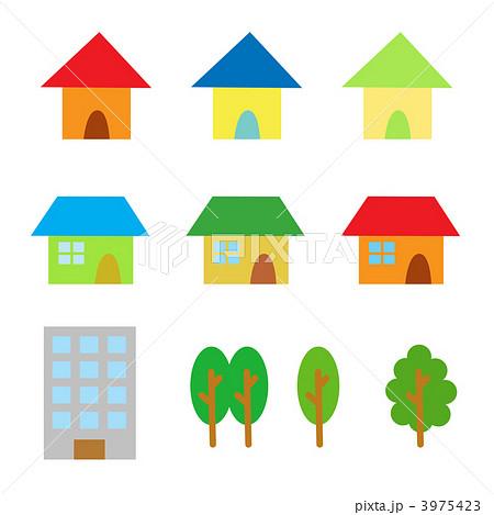 家セットのイラスト素材 3975423 Pixta