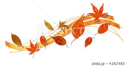 枯れ葉 葉 落ち葉のイラスト素材 4162483 Pixta