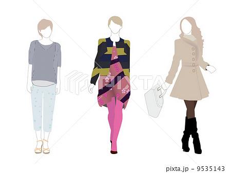 女性ファッションモデルのイラスト素材 [9535143] , PIXTA