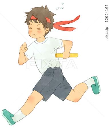 子供 走る 徒競走 運動会のイラスト素材 Pixta