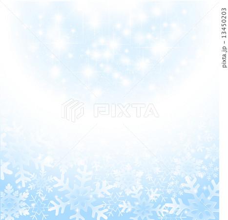 風景 空 輝く 背景イラスト 素材 きれい ベクター 冬 雪の結晶のイラスト