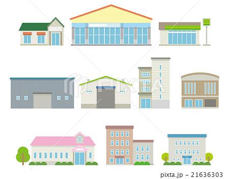 公共施設や店や工場のセット【建物・シリーズ】