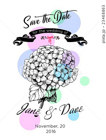 save the date invitation template vector のイラスト素材 23468863