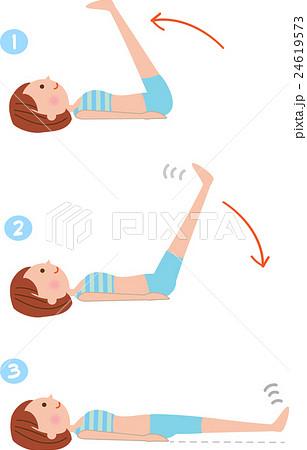 「足上げ腹筋 フリー素材」の画像検索結果