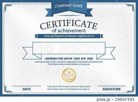 pixta diploma certificate template vector illustration yelopaper Choice Image