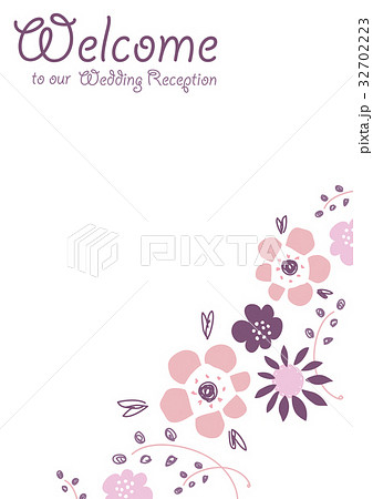花 植物 結婚式 ウェディングのイラスト素材 Pixta