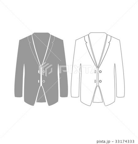 83866795ef0a5 Business suit grey set icon . コンビ肌着のイラスト素材 ...