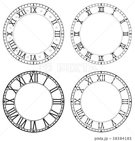 時計の文字盤 ローマ ベクタ ベクターのイラスト素材 Pixta