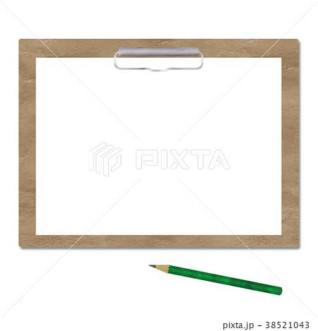 クリップボードと鉛筆(横)