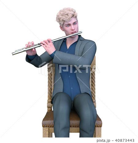 フルート奏者のイラスト素材 - P...