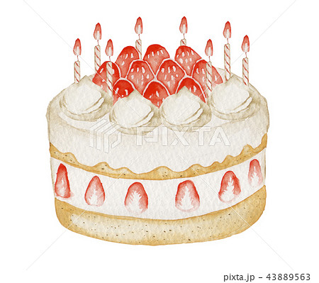 誕生日ケーキバースデーケーキのイラスト素材集 Pixtaピクスタ