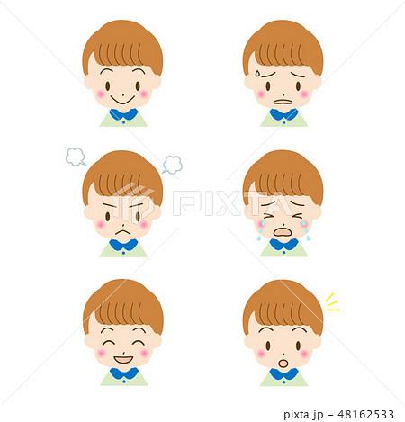 子供 男の子 表情 顔のイラスト素材 Pixta