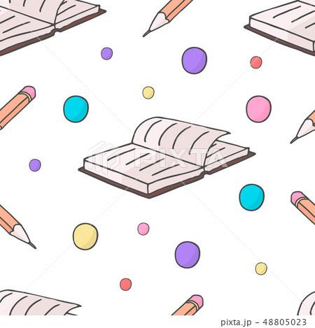 鉛筆 えんぴつ ノート 可愛いのイラスト素材 Pixta