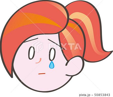 悲しい 顔のイラスト素材 Pixta