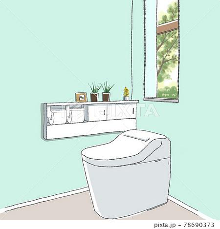 お洒落なトイレのイラスト
